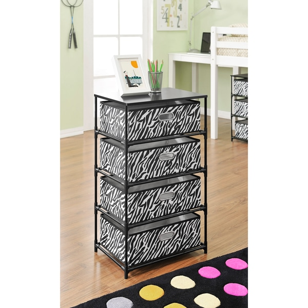 Shop Ameriwood Home Zebra 4 Bin Storage End Table Free