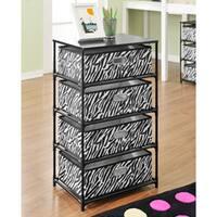 Ameriwood Home Zebra 4-bin Storage/ End Table
