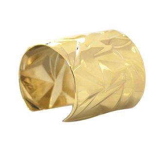 De Buman 14k Goldplated Polished Cuff Bracelet
