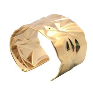 De Buman 14k Goldplated Cuff Bracelet