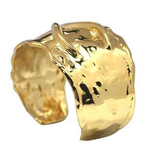De Buman 14k Gold Plated Cuff Bracelet