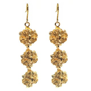 De Buman 14k Goldplated Flower Earrings
