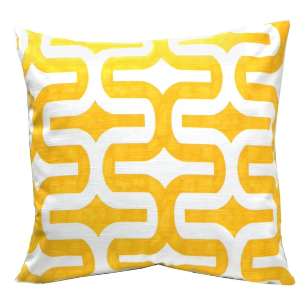Cornflower Geometric Decorative Down Pillow