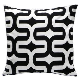 Black/ White Geometric Decorative Down Pillow