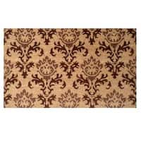 'Lady Katherine' Coir with Vinyl Backing Doormat (1'5 x 2'5)