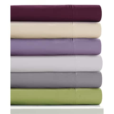 350 TC Extra Cotton Percale Deep Pocket Bed Sheet Set with Oversize Flat