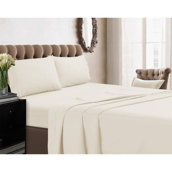 Cotton Extra Deep Pocket PERCALE Bed Sheet Set Flat + Fitted + Pillow Cases