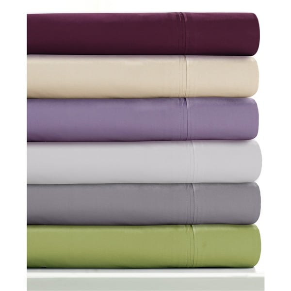 350 Thread Count Cotton Percale Extra Deep Pocket Sheet Set with Oversize Flat