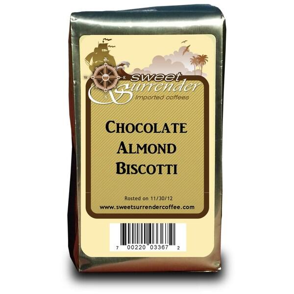 Sweet Surrender Chocolate Almond Biscotti Premium Decaf Coffee