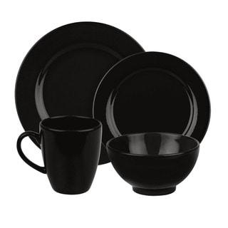 Waechtersbach Fun Factory Black 16-piece Dinnerware Set