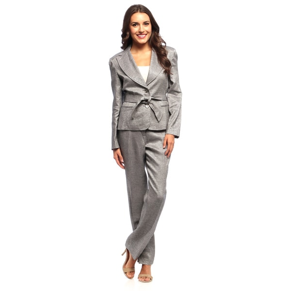 Sharagano Suits Women's 2-button Straight Leg Pant Suit