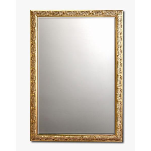 Baroque Gold Framed Beveled Wall Mirror