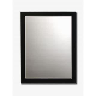 contemporary black framed beveled wall mirror