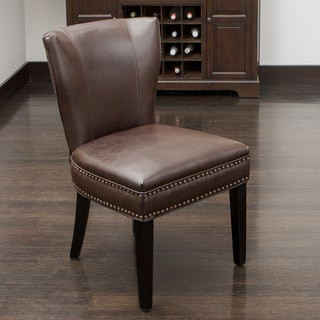 Jackie Brown Leather Accent Dining Chair by Christopher Knight Home. Leather Dining Room Chairs   Shop The Best Brands Today