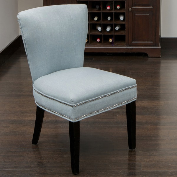 Jackie Ocean Blue Accent Dining Chair by Christopher Knight Home