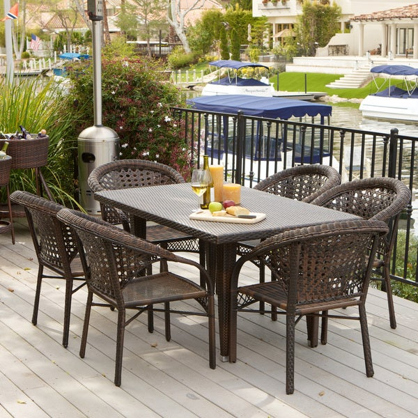 River 7-piece Outdoor Dining Set by Christopher Knight Home