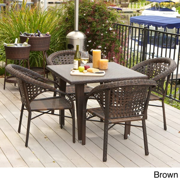 Shop River 5 Piece Outdoor Dining Set By Christopher Knight Home Overstock 7910556