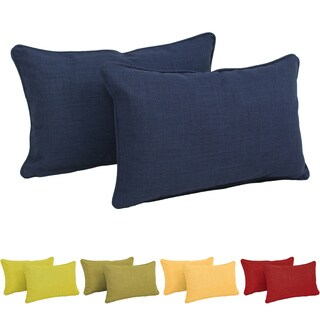 Blazing Needles Solid Color Rectangular Back Support Pillow (Set of 2)