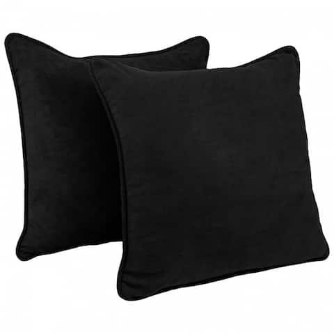 Blazing Needles 25-inch Microsuede Throw Pillow (Set of 2)