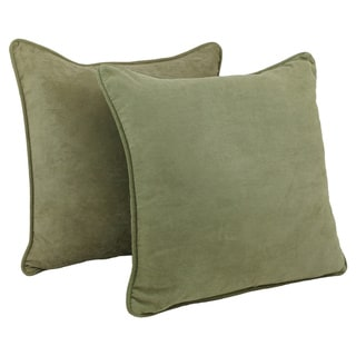 Blazing Needles Earthtone 25-inch Corded Microsuede Floor Pillow and Inserts (Set of 2)