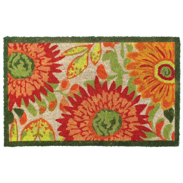Kosas Home Sun Flower Coir Doormat