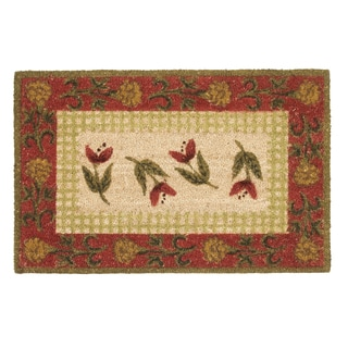 Kosas Home Thuli Floral Coir Doormat