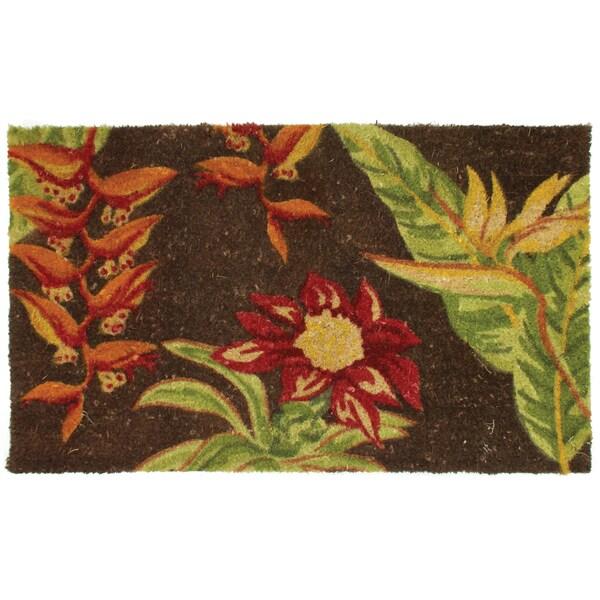 Kosas Home Bora Garden Coir Doormat