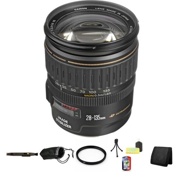Canon EF 28-135mm f/3.5-5.6 IS Image Stabilizer USM Autofocus Lens Bundle