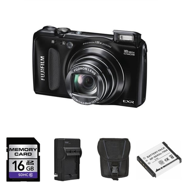 Fujifilm FinePix F660EXR 16MP Digital Camera with 16GB Bundle
