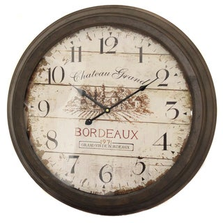 Chateau Grand Weathered Vintage Wall Clock