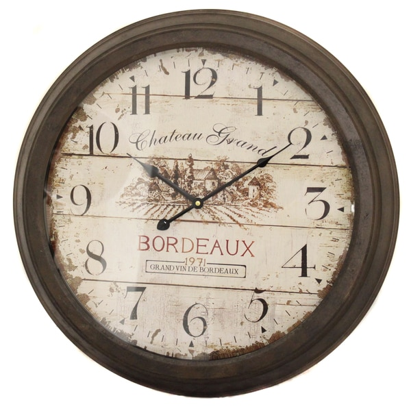 Shop Chateau Grand Weathered Vintage Wall Clock Free