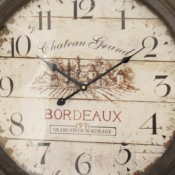 chateau grand weathered vintage wall clock free shipping today