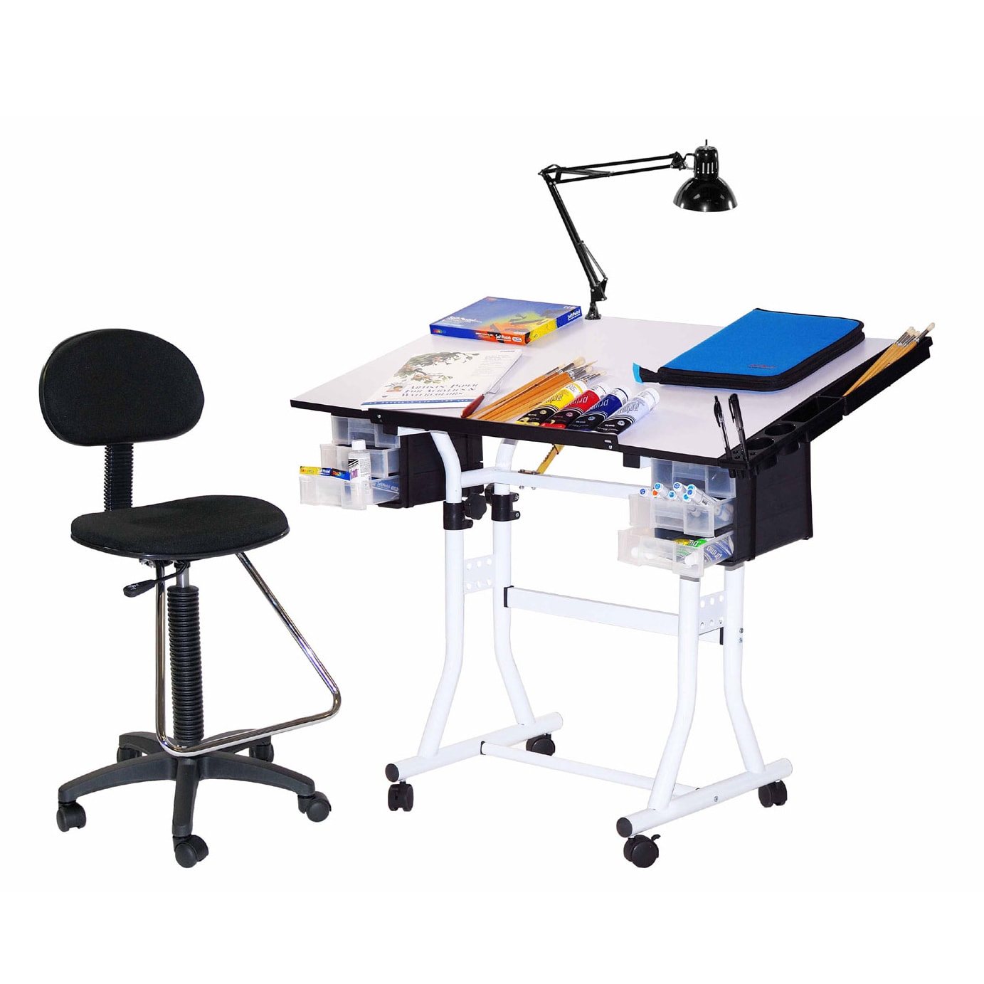 Offex Creation Station 4-piece Drafting and Hobby Craft T...