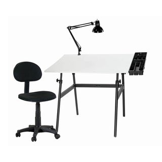 Offex Berkeley Four-piece Drafting and Hobby Craft Table Set