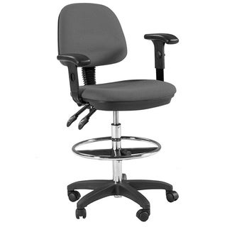 Offex Grey Adjustable Drafting Chair