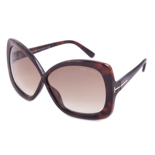 Tom Ford Women's TF0227-52F Calgary Rectangular Sunglasses