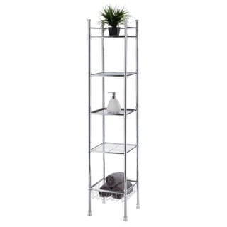Chrome Bathroom 5-tier Tower Shelf