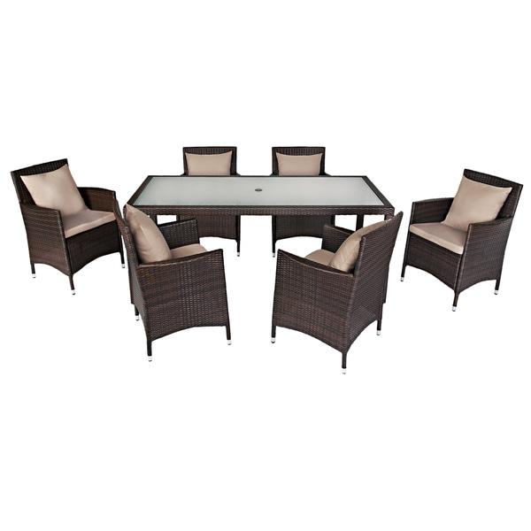 Handy Living Napa Estate Summer Cocoa Brown Indoor/ Outdoor Dining Set