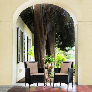 Handy Living Napa Estate Summer Cocoa Brown Indoor/ Outdoor Dining Chairs (Set of 2)