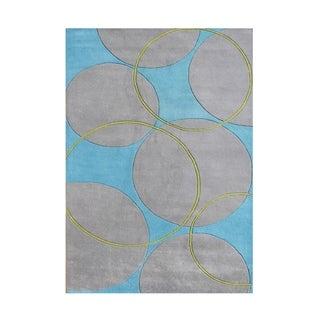 Alliyah Handmade Rings and Circles New Zealand Blend Wool Rug(9' x 12')