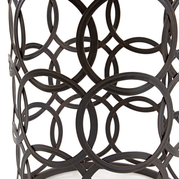 U0027Circlesu0027 Metal Barrel End Table   Free Shipping Today   Overstock.com    15289397