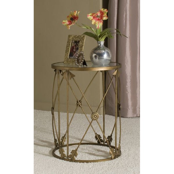U0027Arrowsu0027 Large Metal Barrel End Table   Free Shipping Today   Overstock.com    15289398