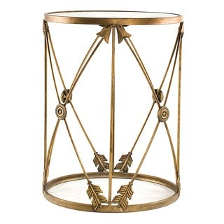 U0027Arrowsu0027 Large Metal Barrel End Table