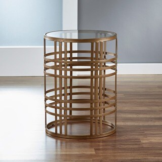 'Weave' Metal Barrel End Table