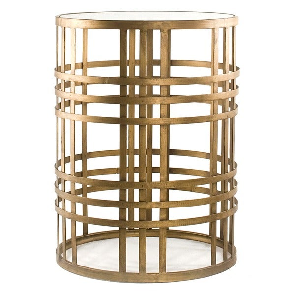 Marvelous U0027Weaveu0027 Metal Barrel End Table   Free Shipping Today   Overstock.com    15289404