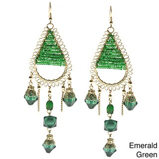 Teardrop Beaded Earrings (India)