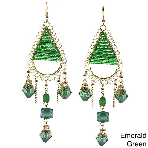 Teardrop Beaded Earrings (India)