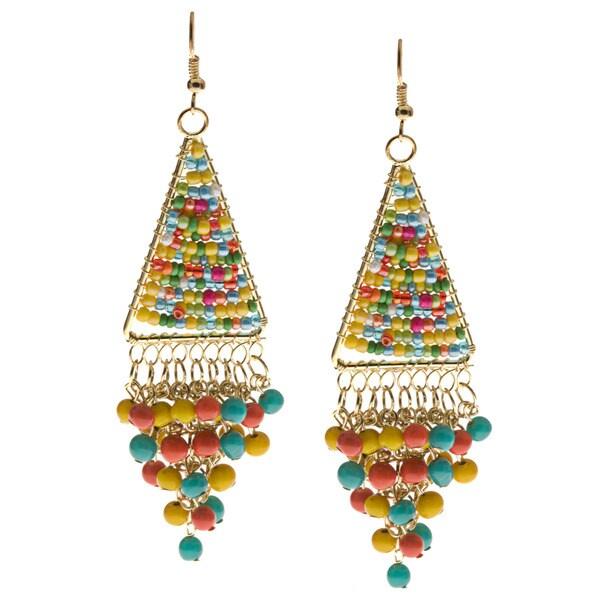 Multicolor Dangle Earrings (India)
