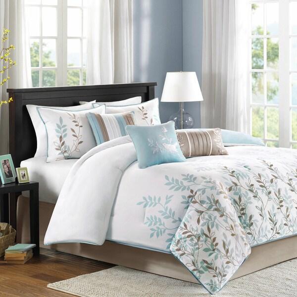 Madison Park Amber Cotton Sateen 7-piece Comforter Set