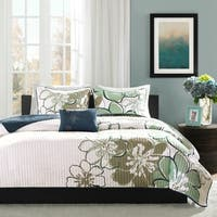Mi Zone Skylar Blue Reversible Coverlet Set